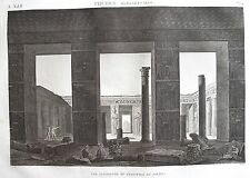 THEBES . MEDYNET ABOU .(pl. 14, A. vol. III). Vue interieur.. DESCRIPTION EGYPTE