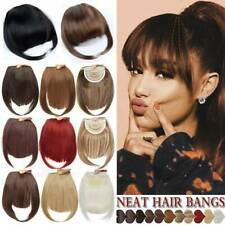 US Real Thick Hair Bangs Clip In Hair Extensions Topper With Fringe for Human