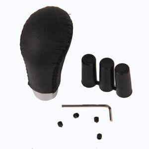 Universal Black Leather Manual Car Gear Stick Shift Knob Shifter