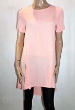 cocolatte Brand Pink Chiffon Dipped Hem Short Sleeve Dress Size 12 BNWT #TL72