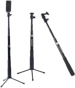 Smatree SmaPole Q3 Telescoping Pole, Selfie Stick with Tripod Stand for GoPro Fu
