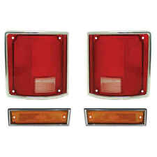 Tail Light & Front Side Marker Kit for 81-87 Chevy GMC Pickup 81-91 Blazer Subur