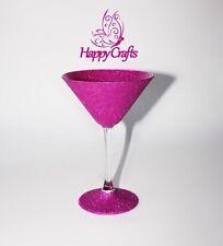 Glitter Sparkle Cocktail Martini Glass Pink