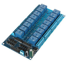 16 Channel 12V Relay Shield Module With Optocoupler Arduino Power Supply LM2576