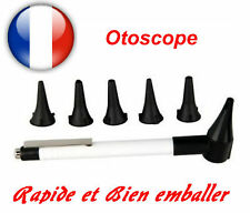 OTOSCOPE NOIR forme Stylo + 5 Embouts