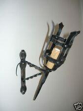 Applique Lampe murale Torche moyen-age en fer