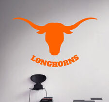 Wall Decal Texas Longhorns NCAA College Football Logo Vinyl Sticker Art (39nc)