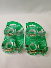 "Scotch Magic Tape W/ Refillable Dispenser 3/4"" X 600"" 4 Rolls 3m Finish Tapes"