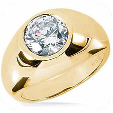 1.52 ct Round Diamond Engagement Wedding Solitaire Mens Ring 14k Yellow Gold