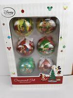 Disney Store Set of 6 Mickey, Minnie, Goofy, Daffy, Pluto in Open Box Good Condi