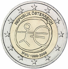 """Austria 2 euro 2009 """"10th Anniversary of the Introduction of the Euro - EMU"""" UNC"""