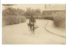 More details for weston. alf reeve, thatcher on his bicycle. r/p. social history.