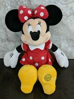 Exclusive Disney Store Minnie Mouse Big Red Polka Dot Plush Stuffed Toy Doll Big