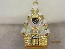 "Polonaise Valentine Ornament "" Gingerbread House"" - Pre-Owned - 6"""