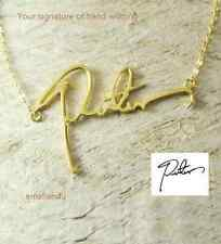 Signature Name Necklace Personalized Custom Handwriting Gold Plated jewelry Gift