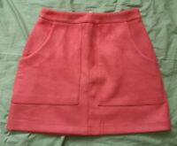 Missguided Women's Orange Faux Suede Mini Skirt Size 8 Good Used Condition