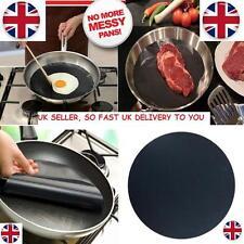 2pcs Round Teflon Non-stick Mat Pan Fry Liner Sheet Cooking Pad BBQ Baking Mats