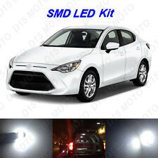5 x White LED Interior Bulbs + License Plate Lights for 2016 2017 Scion Yaris iA
