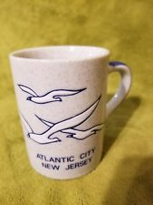 Rare Vintage Atlantic City New Jersey Coffee Mug With Seagulls