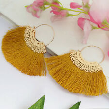 Thread Tassel Dangle Earrings Women Fashion Gold Plated Jewelry for Anniversary