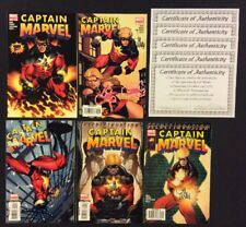 CAPTAIN MARVEL #1 - 5 Comic Books SIGNED LEE WEEKS 2008 VF-NM COA Included