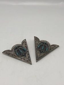 Silver With Turquoise Collar Tips