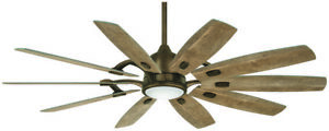 Minka-Aire F864L-HBZ Barn 65 Ceiling Fan with LED Light and DC Motor in