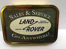 Land Rover Sales & Service Vintage Garage Cigarette Tobacco Storage 2oz Tin
