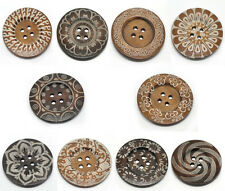 LOVE Cute 4Holes Wooden Big Sewing Buttons Sweater Overcoat 6cm 100Assorted