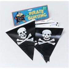 7 M Pirate Bunting Avec 25 Drapeaux - Flags Party Decoration Skull