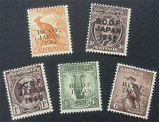 nystamps British Australia Stamp # M1-M5 MOGH   O22x1772