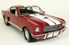 Lane Exact Detail 1/18 Scale 1966 Shelby GT350 Red / White Diecast Model Car