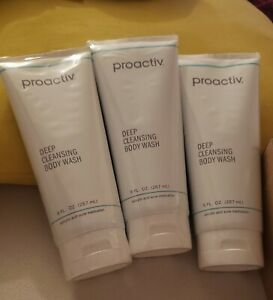 3 Proactiv Deep Cleansing Exfoliating Body Wash Acne Medication 9oz EXP 01/2024