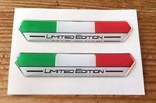 2 x 85mm Italy Limited Edition Stickers (White) - HIGH GLOSS DOMED GEL FINISH