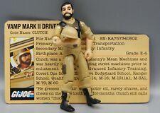 Vintage 1984 Hasbro GI Joe CLUTCH Action Figure COMPLETE w/ Filecard ARAH Toy !!