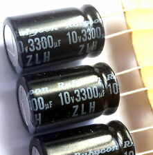 5 pieces, 3300uF 10v Rubycon (JAPAN) ZLH, 105°C, Electrolytic Capacitor -ref:189
