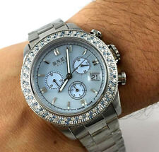 "OROLOGIO Breil Milano""Aquamarine"" BW0518 CHRONO diamanti bianchi ct. 0,9 WATCH"