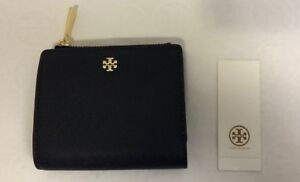 NWT Tory Burch Emerson Saffiano Leather Mini Wallet , Tory Navy # 47389 0218