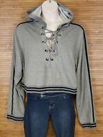 Fashion Nova Gray Cropped Hoodie Womens Size 2XL EUC