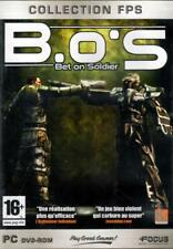 JEU PC DVD ROM../...B.O.S....BET ON SOLDIER ........
