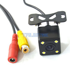 170° Car Rear View Reverse Backup Parking Camera 4 LED Night Vision CCD 12V