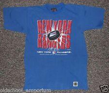 New York RANGERS / NHL - US Line - vintage blue T-Shirt. Size: 160/170 (S-M?)