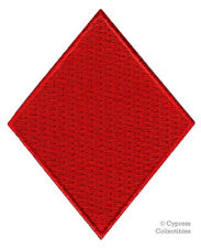 RED DIAMOND CARD SUIT PATCH embroidered iron-on applique POKER BLACKJACK PLAYING