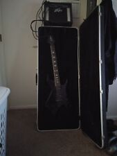 B.C. Rich Warlock Guitar Deluxe with case, chromatic tuner, amp jack, and amp