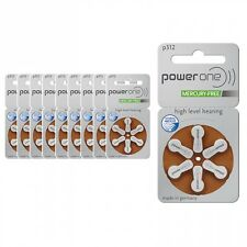 (Pack of 60) PowerOne Hearing Aid Batteries PR41, p312, Size 312 Expire Mid 2019
