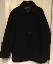 J.CREW Men's University Jacket Coat Thinsulate Peacoat Overcoat WOOL Large
