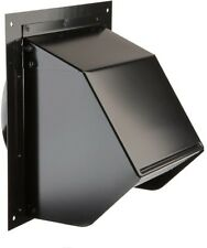 Wall Vent Cover Exterior Cap 6 Inch Duct Vent Black Exhaust Fan Range Hood