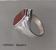 Carneol Ring, Silber(830) Antik ca.1930 / Art Deco / Idar-Oberstein / OPDIGO /
