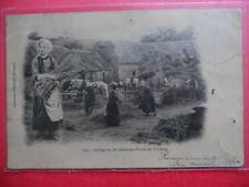 Battage du Blé dans une Ferme dans le Finistère........VO.1902.