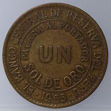 Peru 1 Un Sol de Oro 1963- KM# 222